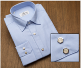 Lt Blue Herringbone Remington 2 Shirt