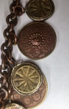 Vintage Copper Copper Coin Necklace