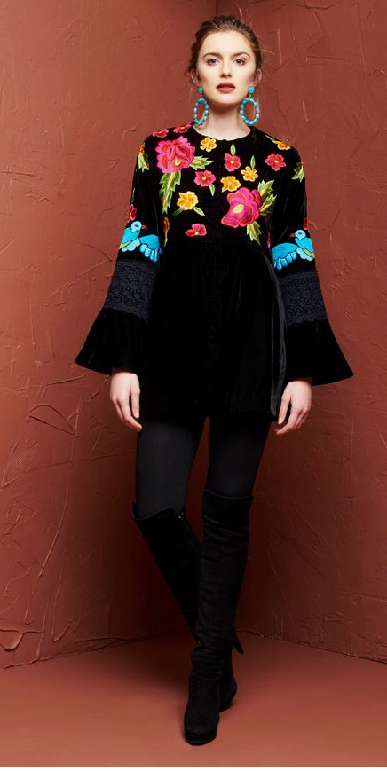 Blue Bird Embroidered Jacket