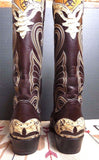 Mint Vintage Python Leather 10.5 Boots
