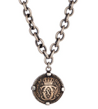 Bronze Kroner Coin Sterling Chain