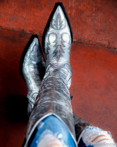 myra silver metallic old gringo boot