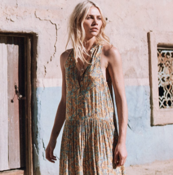Delirium Maxi Dress Gold