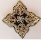 Gold Bullion Four Pointed VIntage Patch