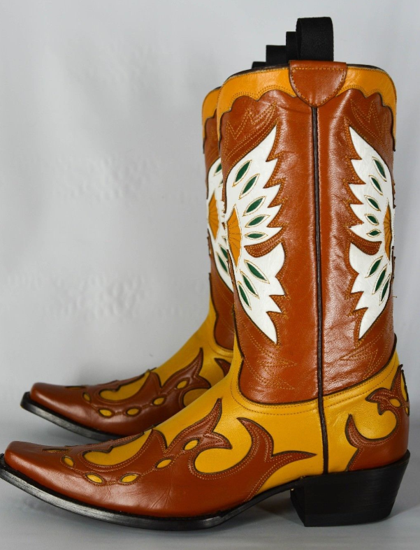 Custom McClintock Eagle Inlay Boots 9/9.5M