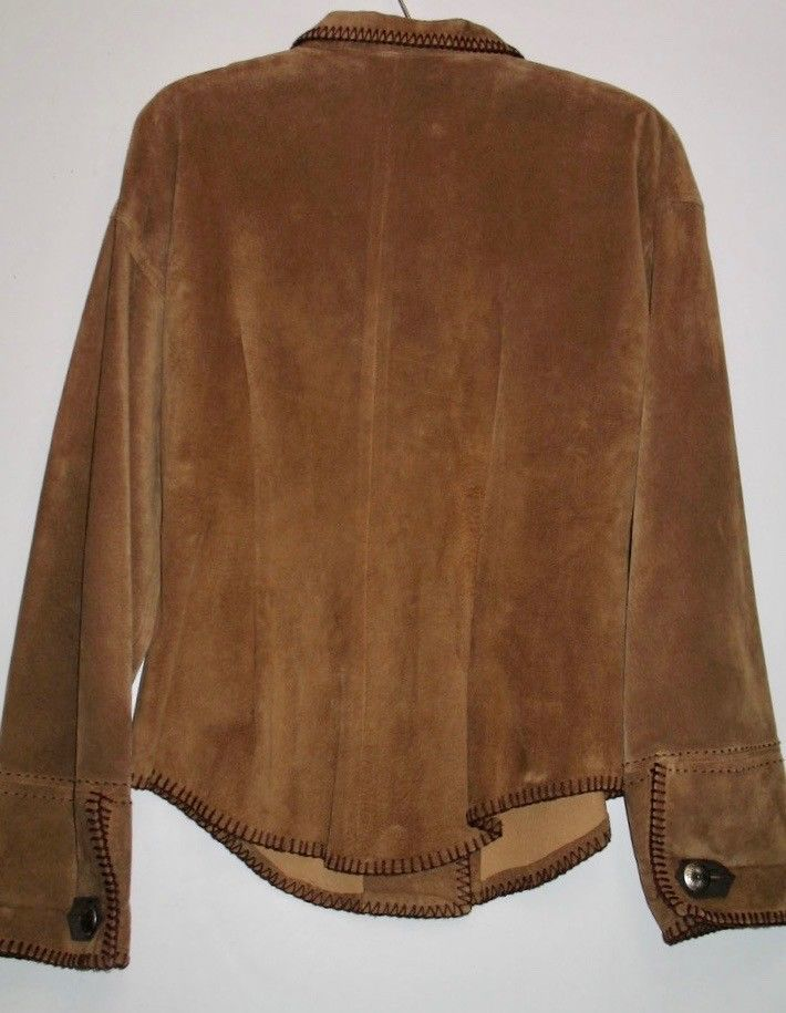 Suede Whipstitch Jacket M
