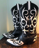 B/W Vintage Inlay Boots 7
