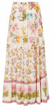 Wild Bloom Maxi Skirt Cream