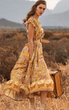 Wild Bloom Gown Mustard