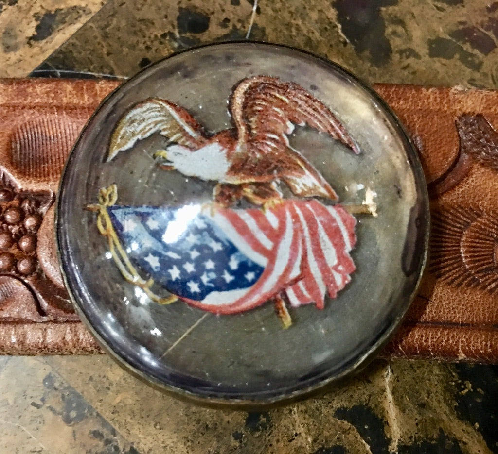 1880s Cuff Horse Bridle USA Flag Eagle