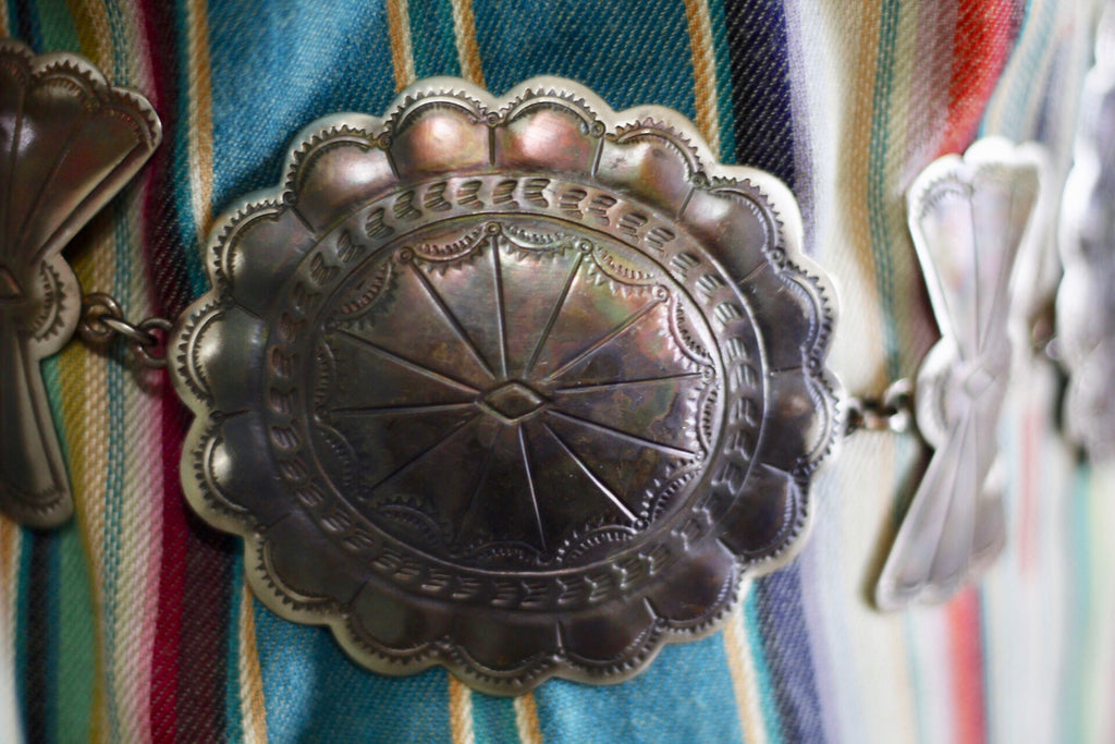 Conchos and Bows Belt