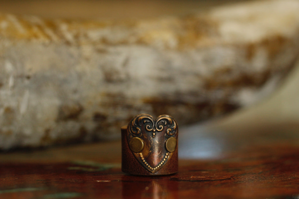 Vintage Leather Ring