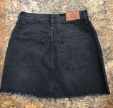 Denim Austin Notch Mini Skirt
