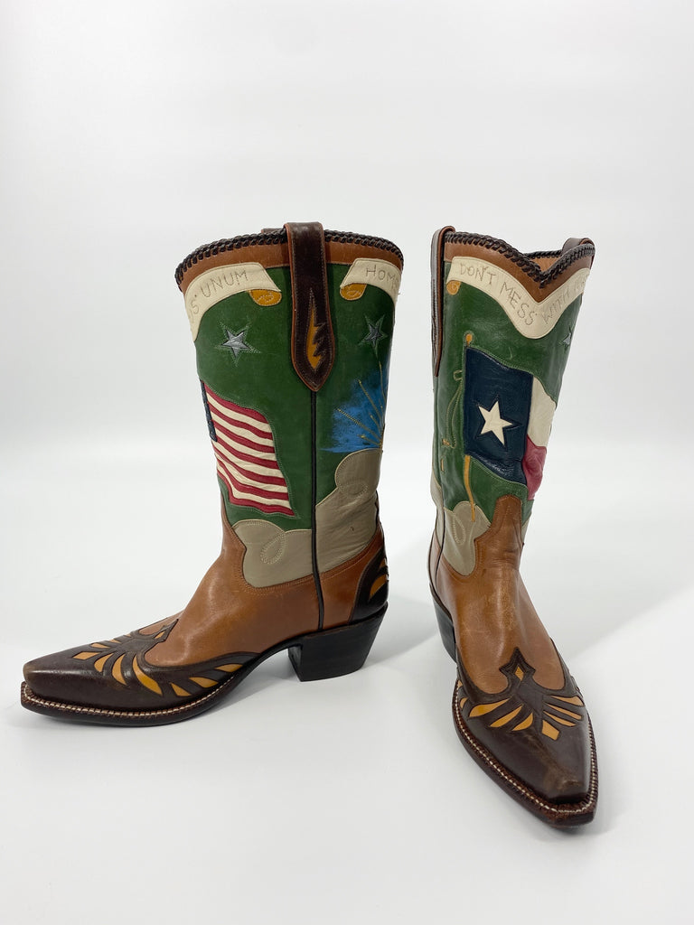 Custom USA Texas Boots 6.5