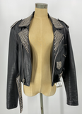 LA Roxx Leather Jacket w/ Studs & Swarovski Crystals