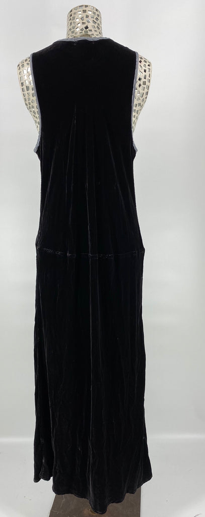 Lake Velvet Dress Asphalt