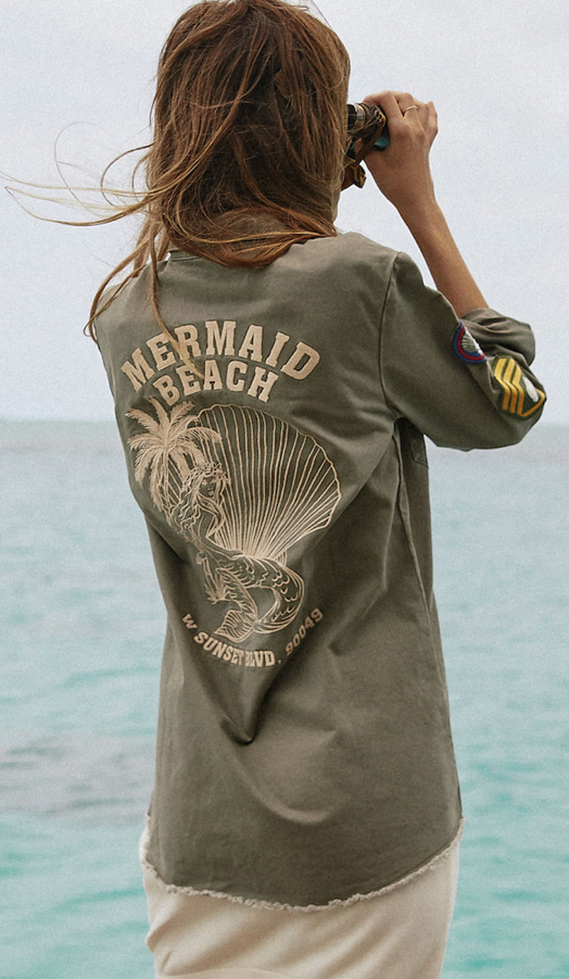 Mermaid Twill Jacket - Khaki