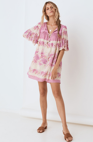 Coco Lei Flutter Sleeve Tunic - Lilac