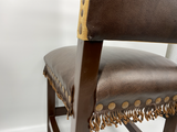 Double D Ranch Leather Chair Cowboy