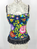 Handwoven Floral Bustier
