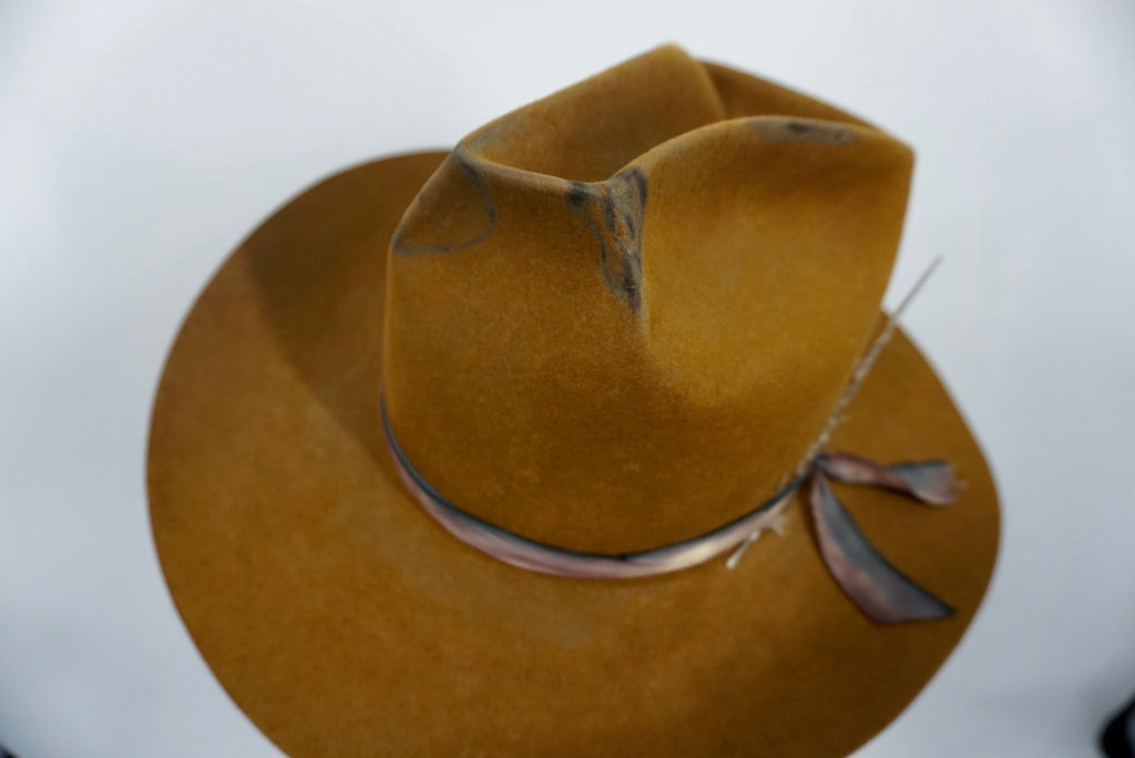 Distressed Whiskey Cowboy Hat XL