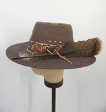 Distressed Eggplant Vintage Hat 7-1/8