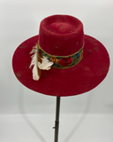 Red Distressed Vintage Hat 6-7/8