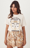 Eagle Angel Organic Biker Tee - Cream