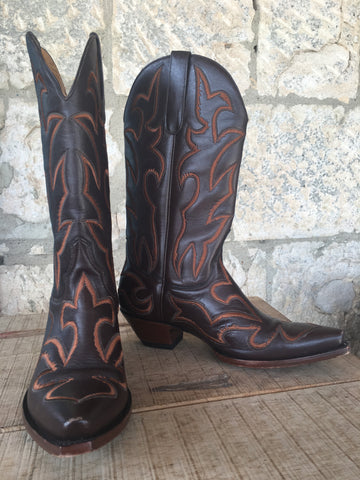 Manuel 3/100 Brown Embroidered Boots 7