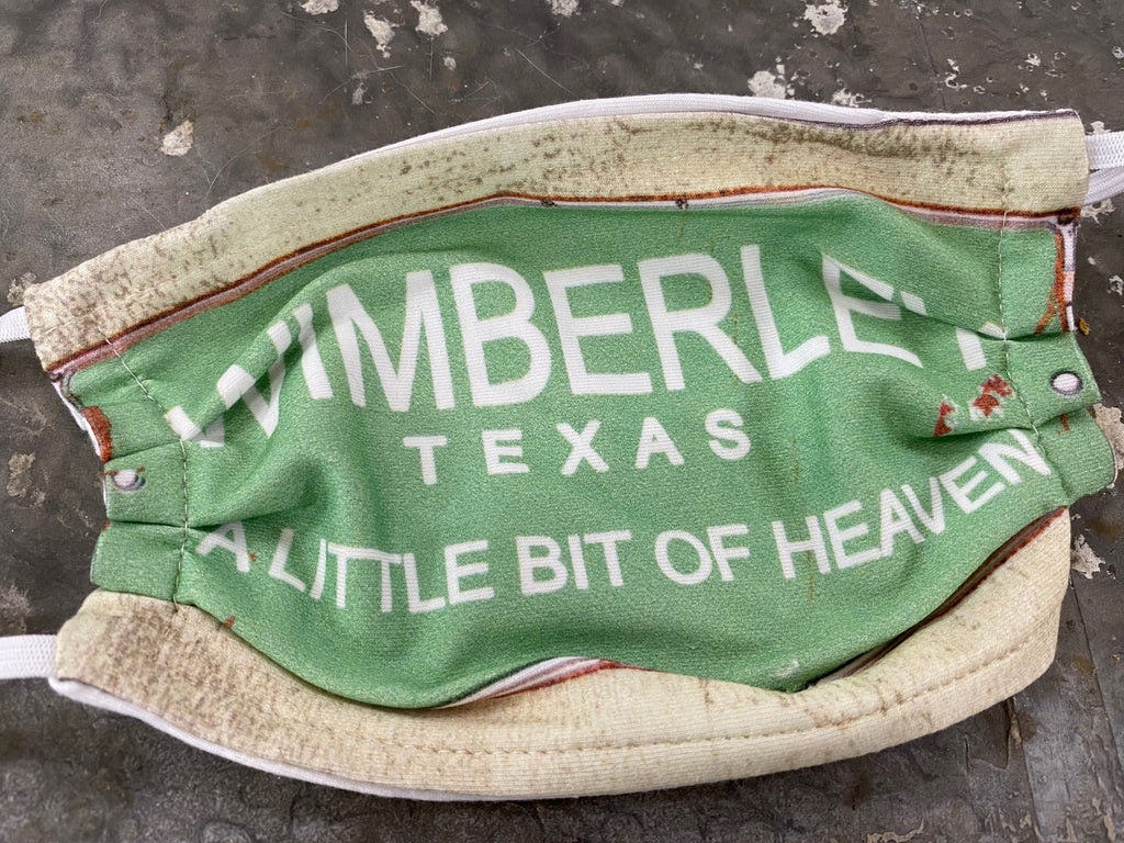"Wimberley Texas ""A little bit of heaven"" Face Mask"
