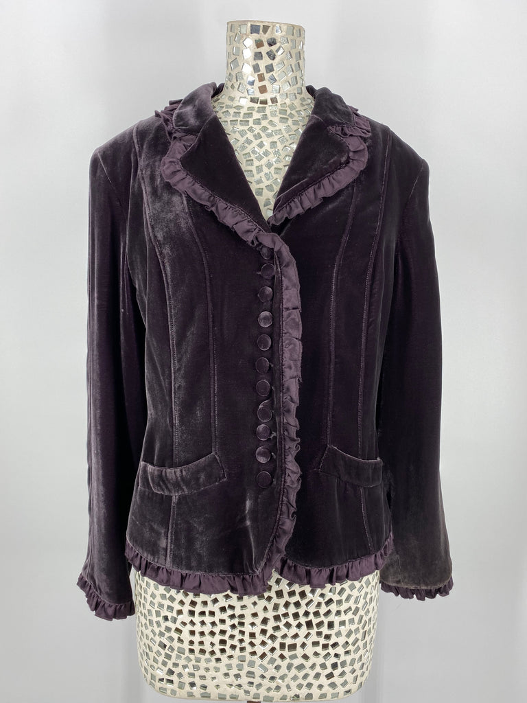 Double D Ranch Mustang Grape Velvet Jacket