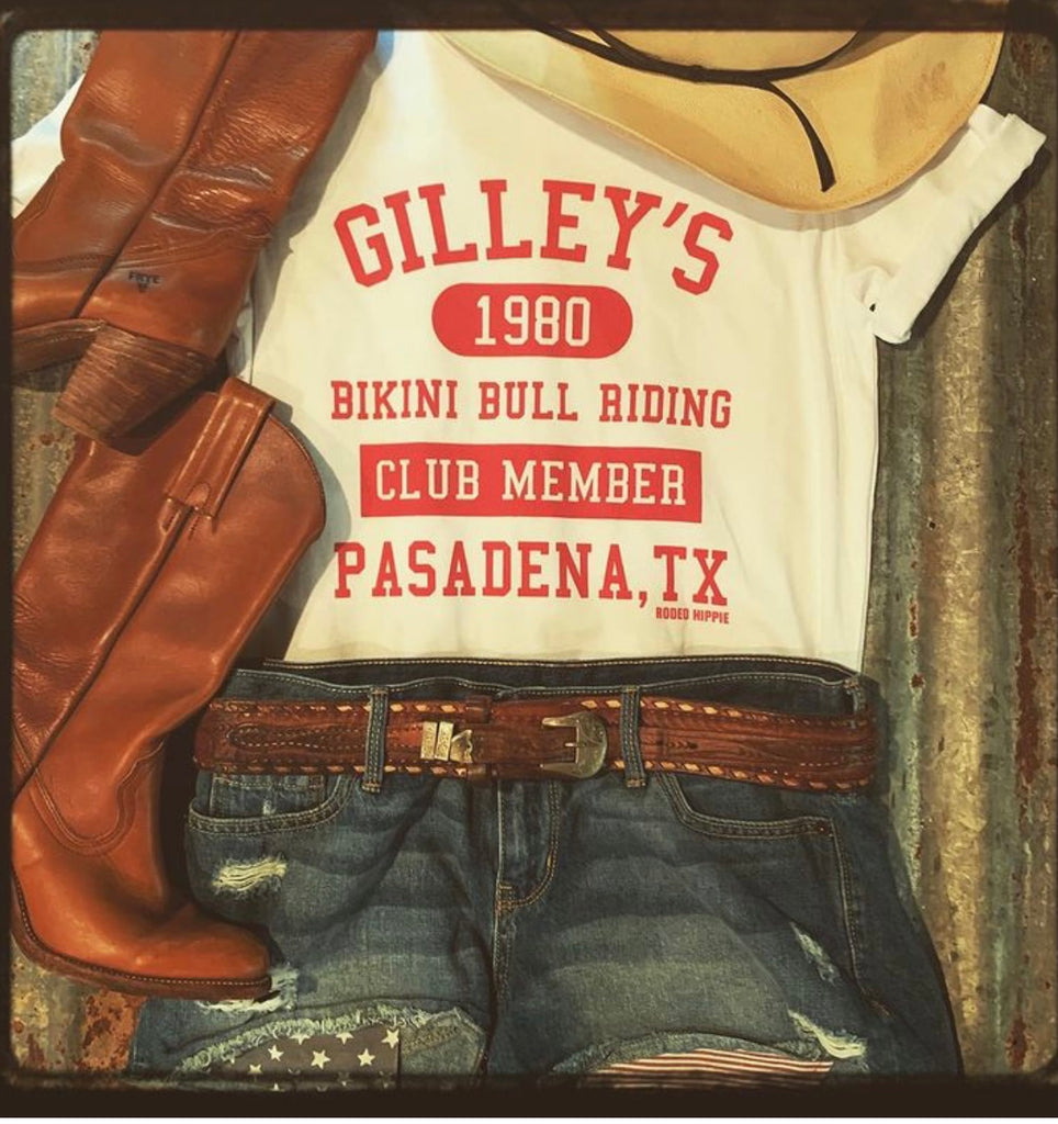 Gilley's Bikini Bull Riding Club Member Tee Shirt