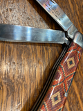 Earth Tone Beaded Design Folding Knife