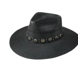 Charlie 1 Horse Sure Shot Black Straw Hat