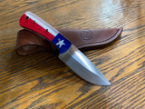 Texas Flag Fixed Blade Knife with Sheath