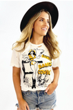Bang Bang Cowboy Distressed Unisex Tee Shirt