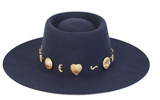 The Navy Cosmic Boater Hat