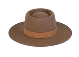 The Mirage Boater Hat in Coffee Brown