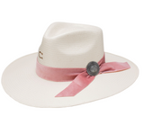 Only Prettier Charlie 1 Horse Hat Pink 10X Natural Straw