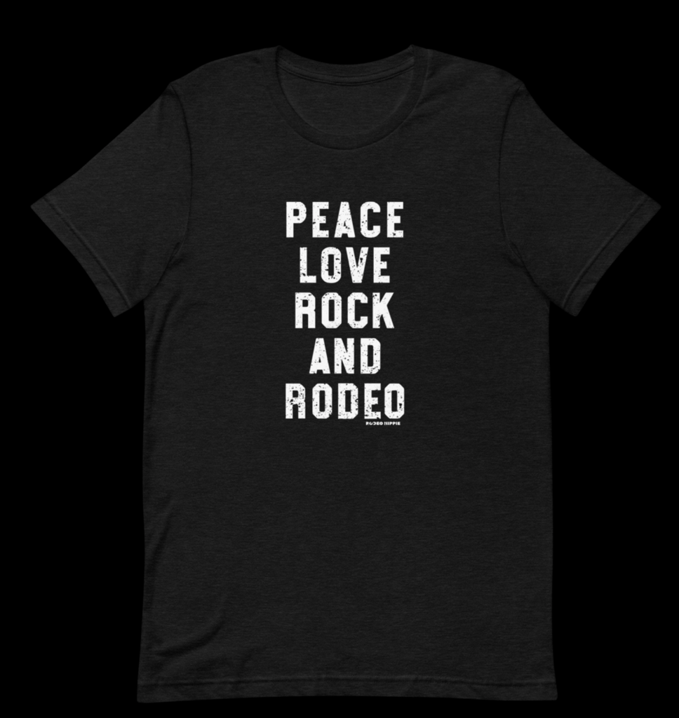 Peace Love Rock and Rodeo Tee Shirt