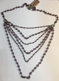 Bicone Tiered Purple Necklace