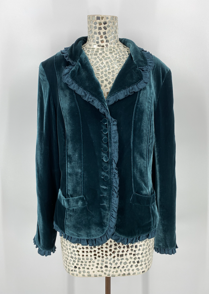 Double D Ranch Velvet/Silk Teal Jacket