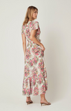 Provence Faux Wrap Maxi Dress-Natural