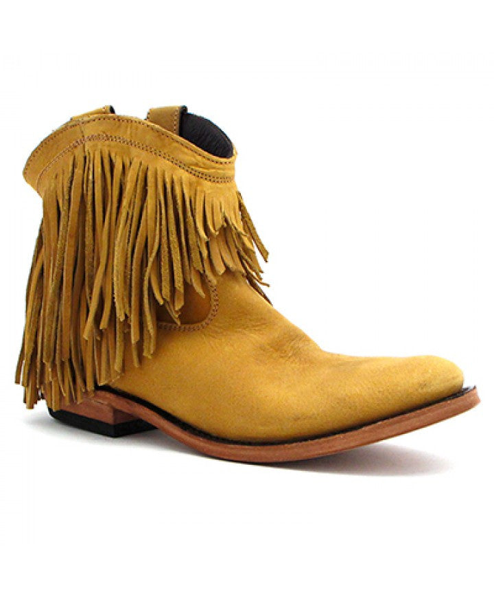 Vegas Soley Fringed Ankle Boot