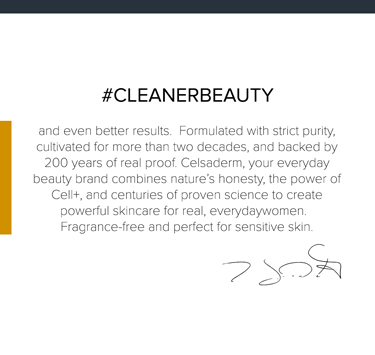 Cleaner beauty by Celsaderm Skincare