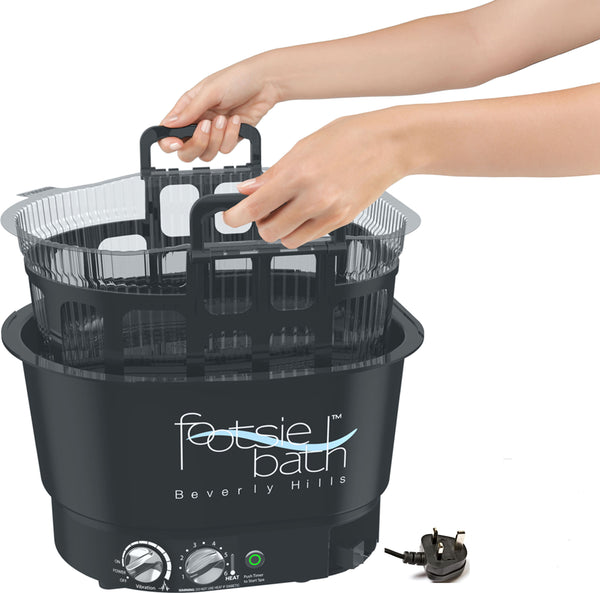 Footsiebath™ Black Kit with European Electric Converter (220volts)  / 5 Liners