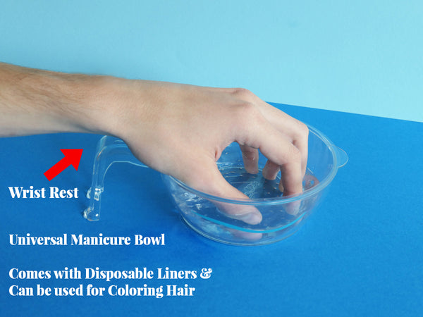 MANICURE BOWL WITH WRIST REST.