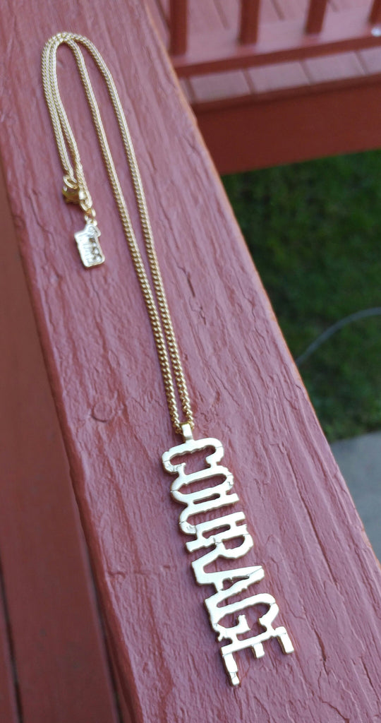 oneWORD Jewelry - COURAGE necklace