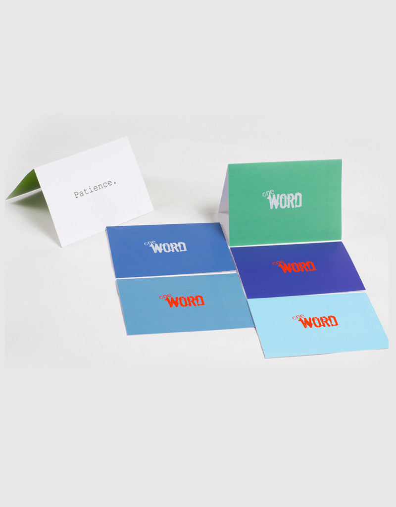 the word changes logo PATIENCE pack - Greeting Cards (2)
