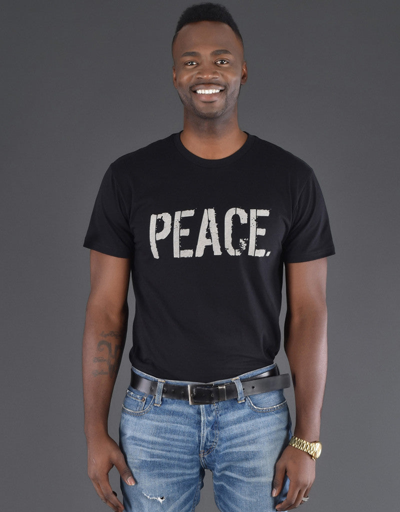 Unisex PEACE. T-Shirts (BLACK)